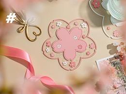 电商产品拍摄 简约可爱粉色餐垫 杯垫硅胶塑料