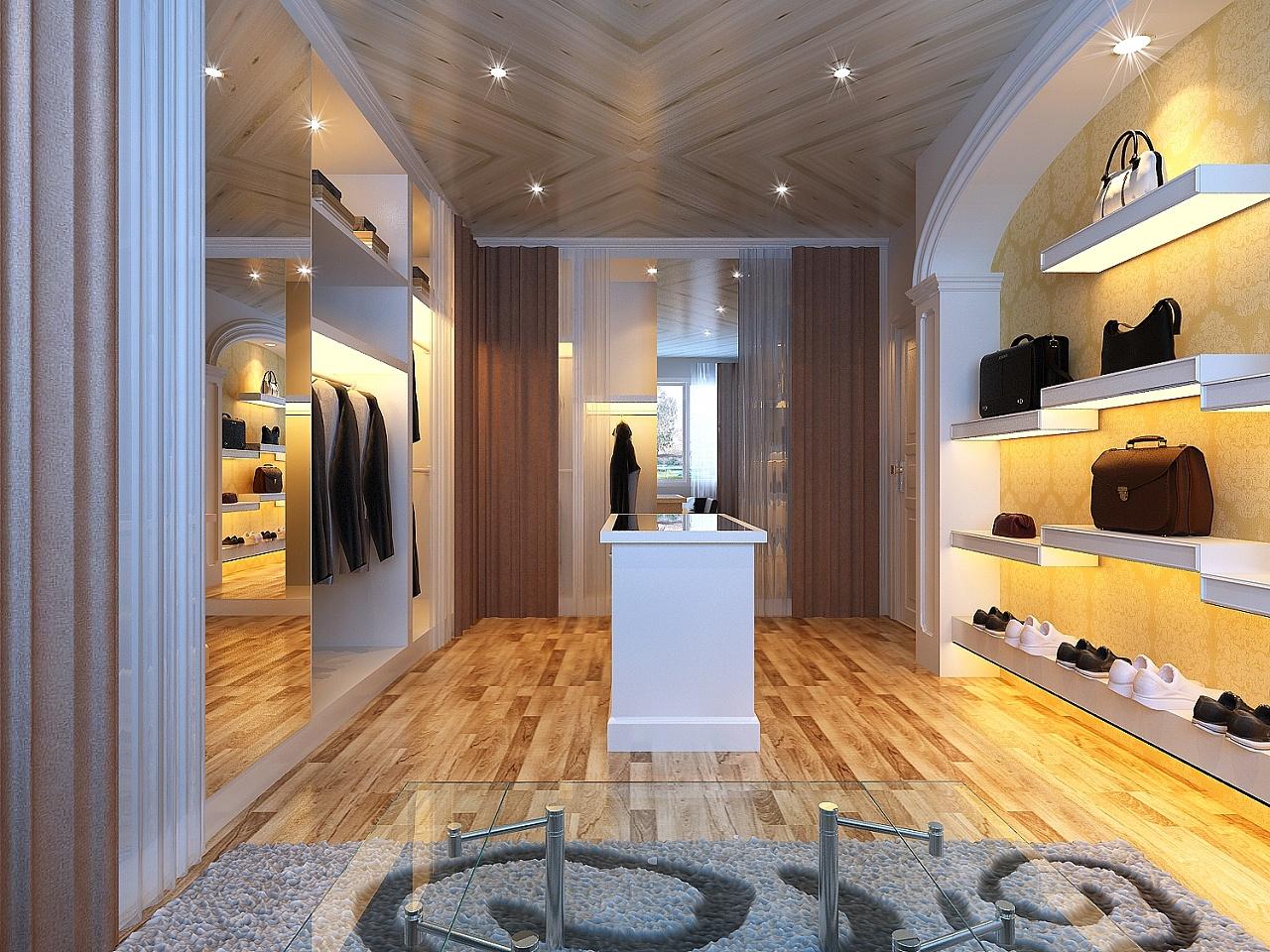 贵阳市金源国际200平米复式楼简欧风格装修ag路子|官方网站分享--衣帽间