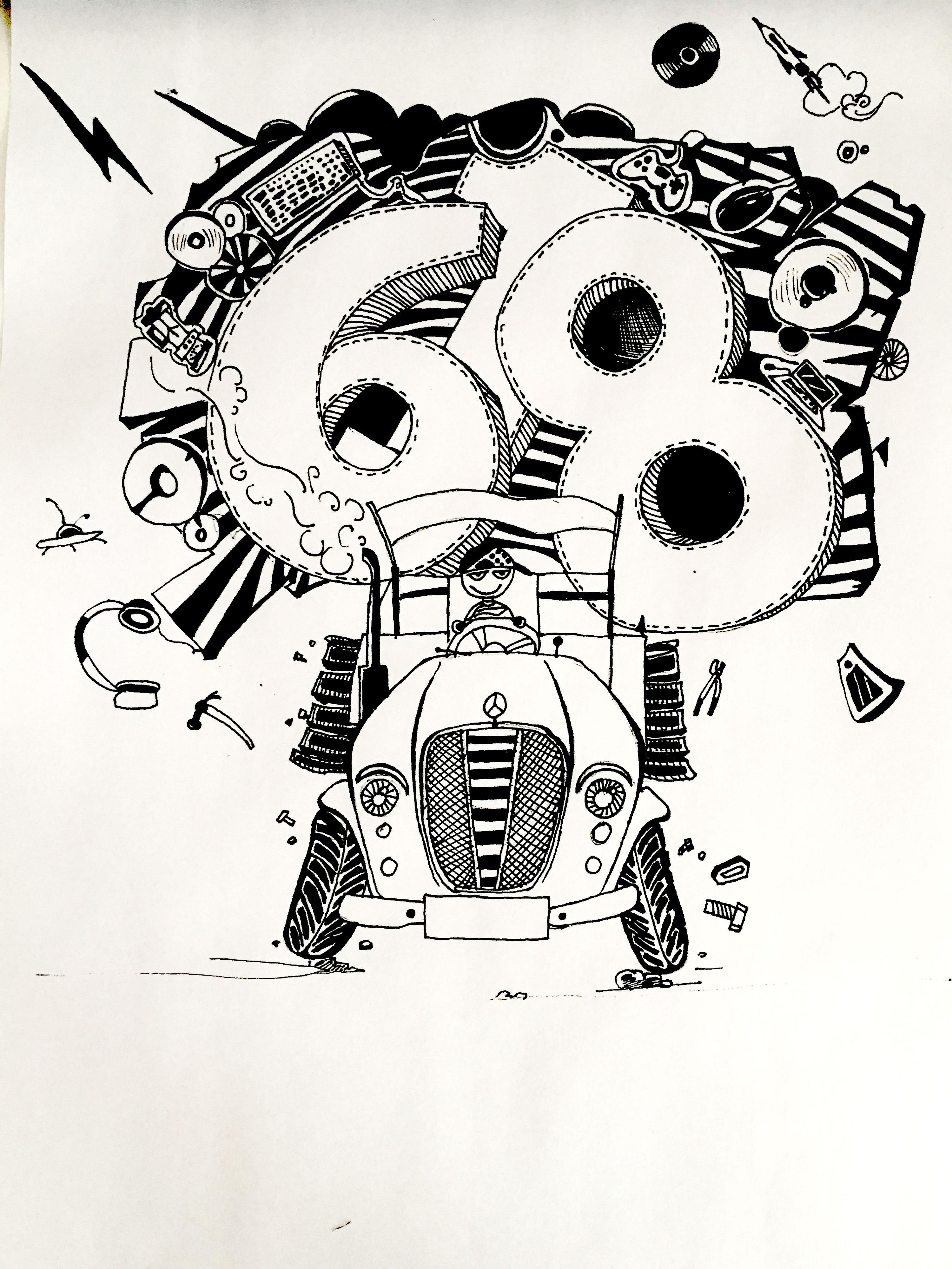 电商618手绘黑白/彩色 搞笑 表情包 逗比 海报