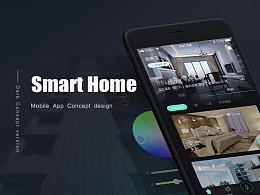 智能家居Smart Home App - Dark Concept 深色概念版