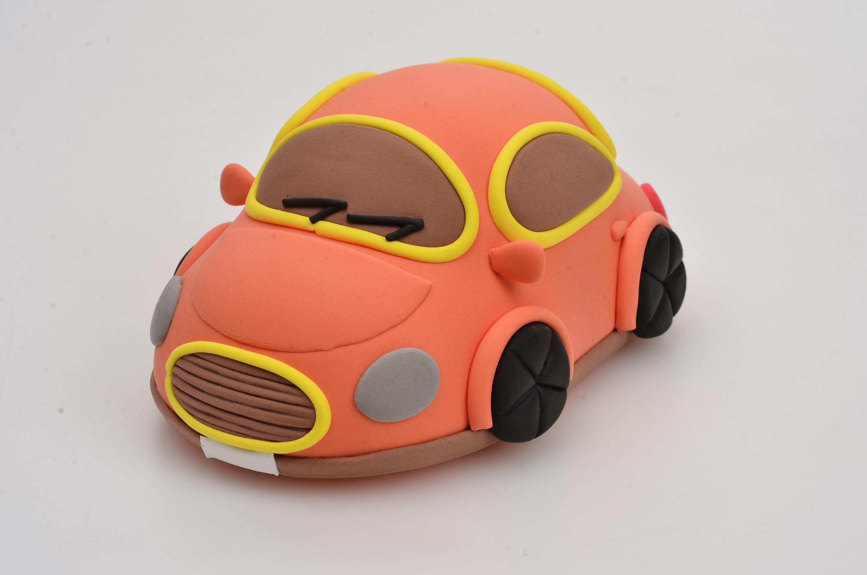 粘土制作小汽车|手工艺|手办/原型|ella kong - 原创