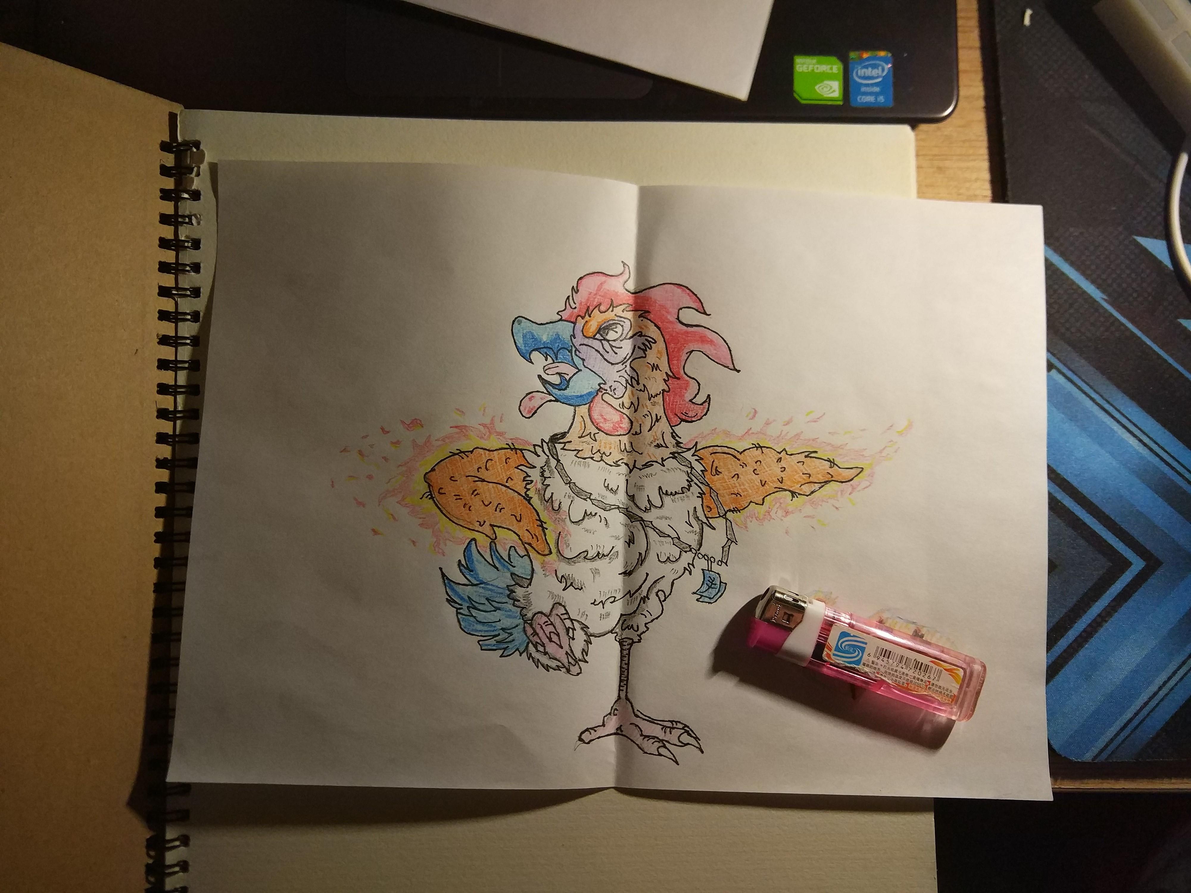 手绘纸袋儿童画
