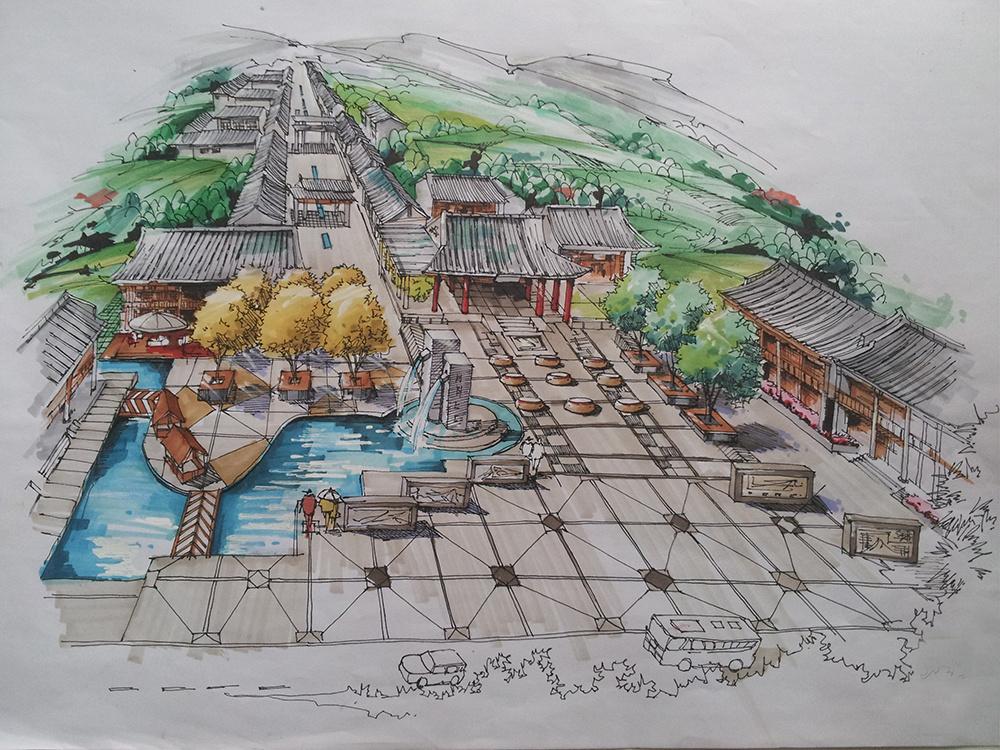 手绘,景观 规划,色彩|空间|景观设计|yira - 原创作品