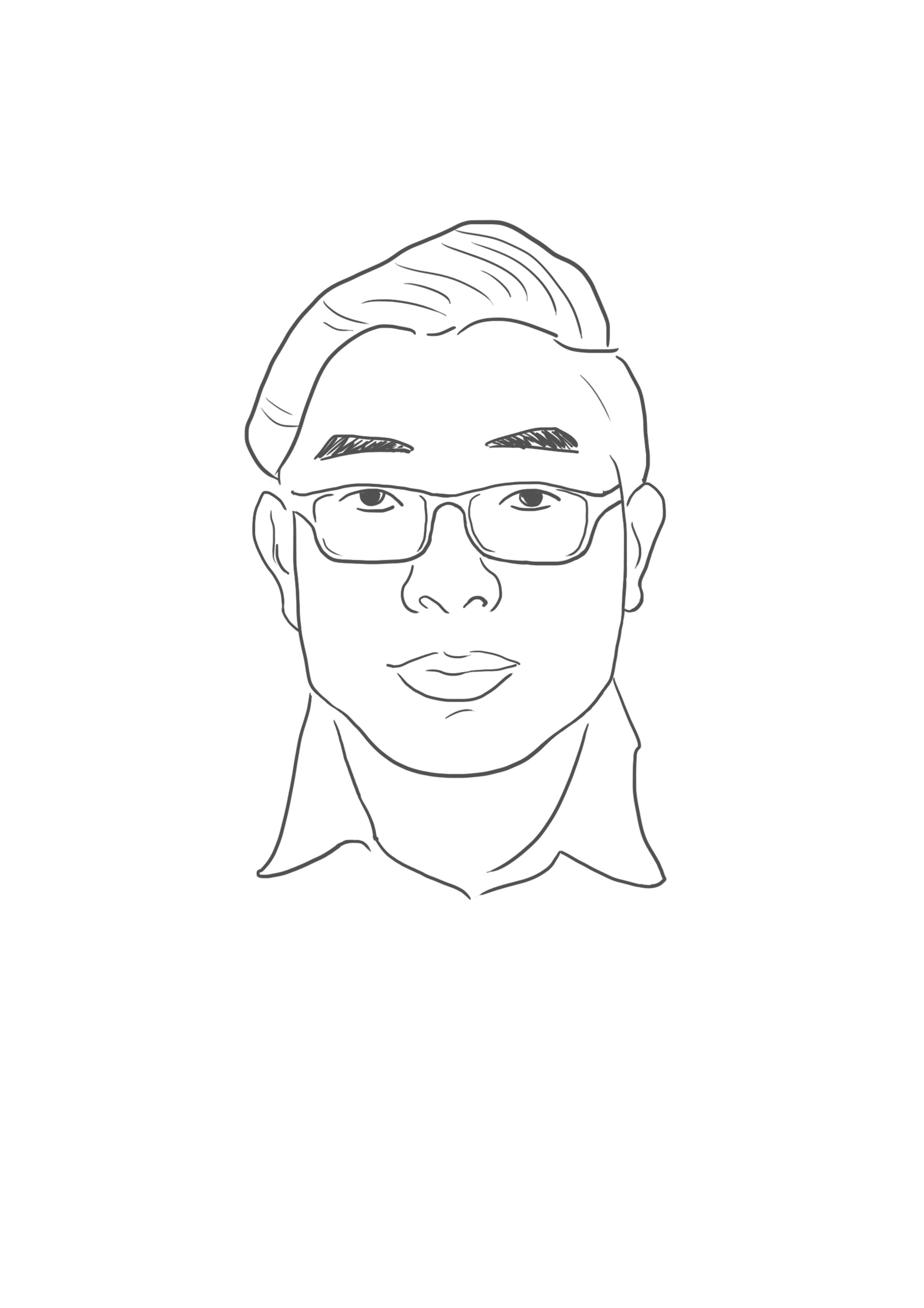 朋友名片需要一个肖像简笔画