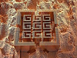 LOGO标志VI导视黑金C4D立体质感炫彩金属字立体字