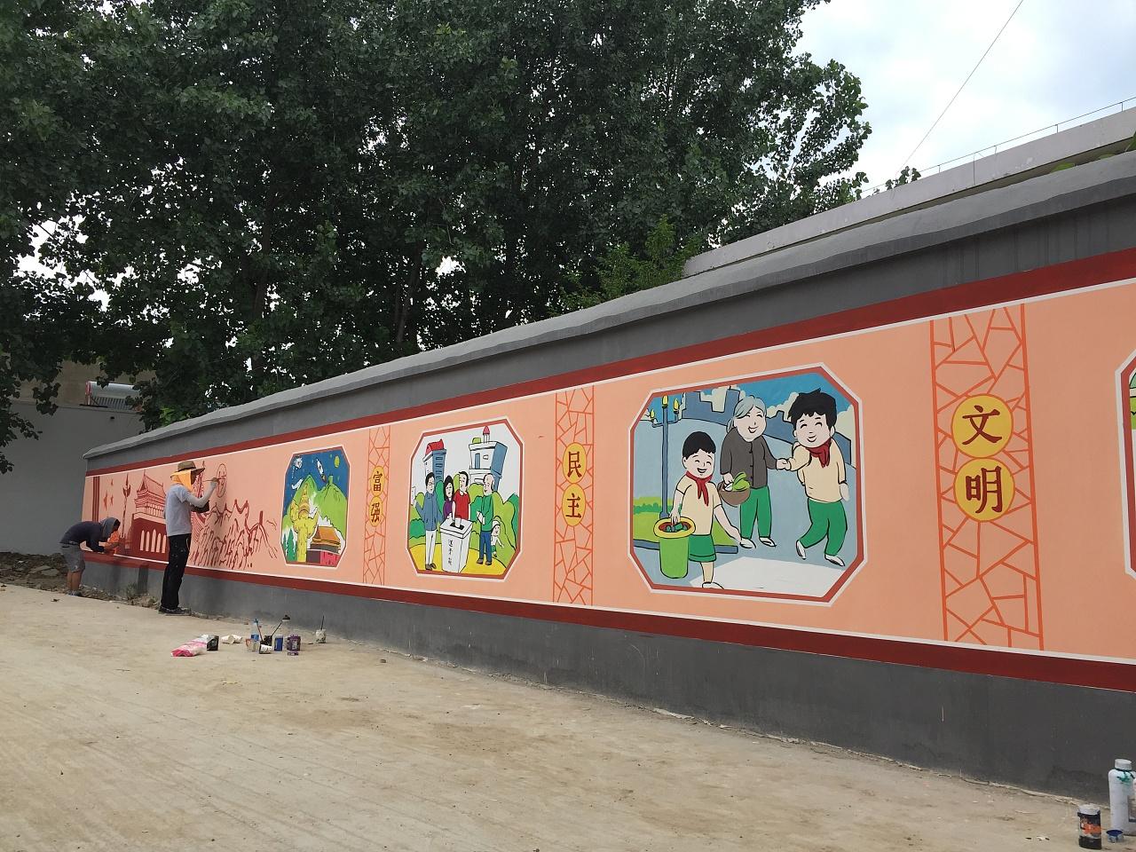 蚌埠文化墙 蚌埠新农村墙绘 蚌埠彩绘 蚌埠手绘