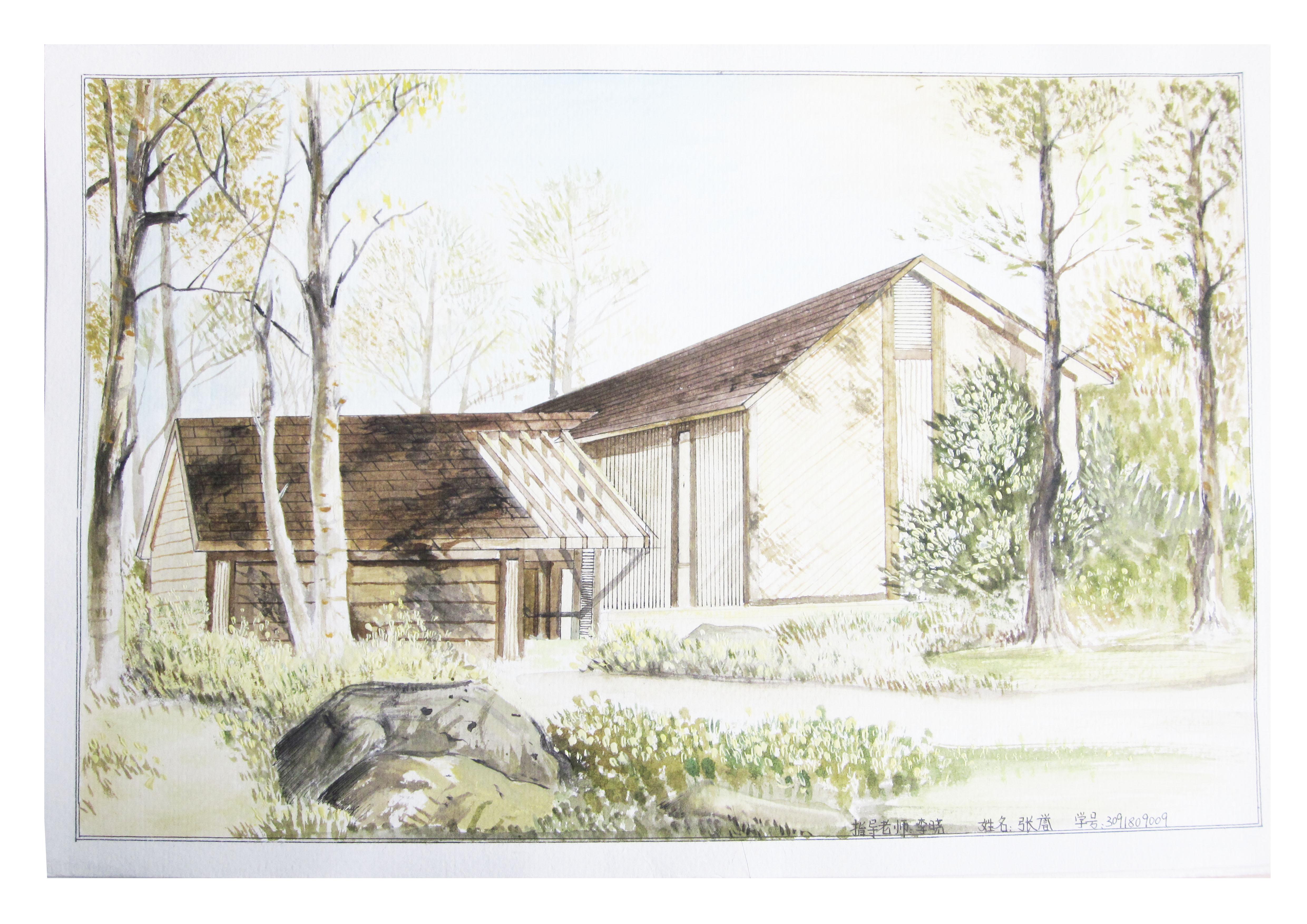 建筑画系列