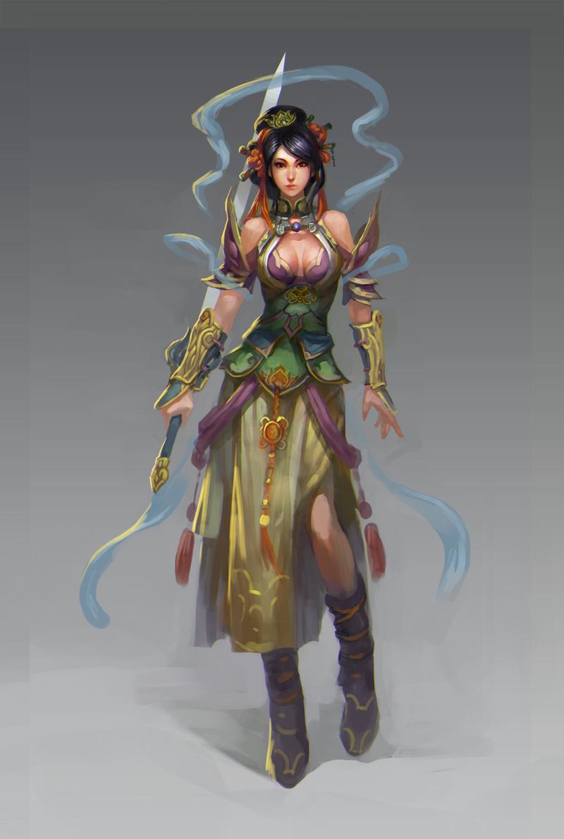 中国风女|游戏原画|插画|古阳