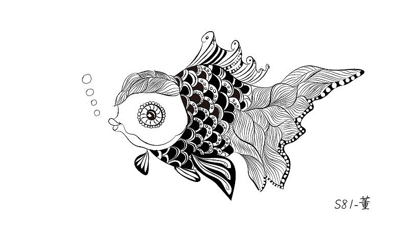 手绘金鱼图片大全大图