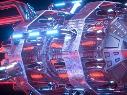 C4D未来科幻机械风格渲染——流浪地球行星发动机内核