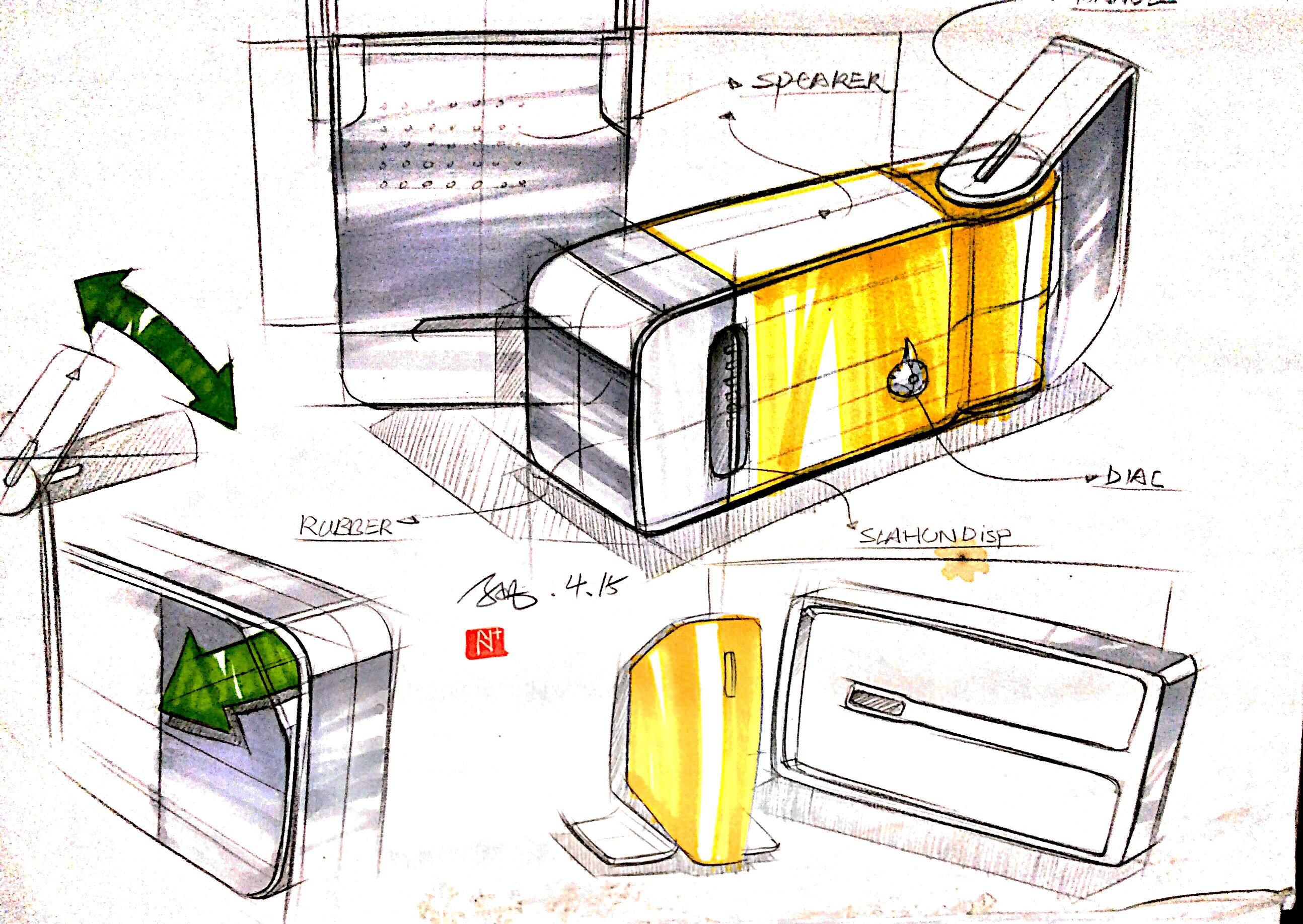 工业设计手绘-每日一画|工业/产品|生活用品|孙凡设计