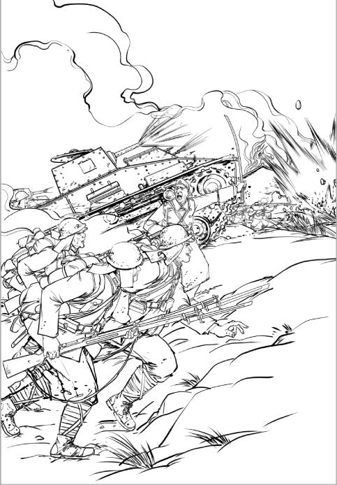 工作——cat791——抗日|插画|其他插画|农夫山猫