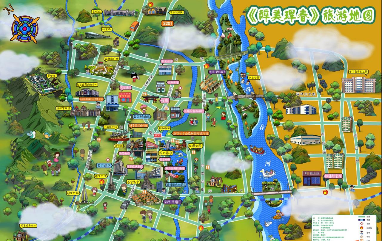 城市手绘地图 景区手绘地图 专业手绘地图机构