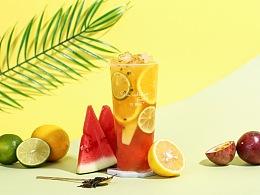 水果茶摄影 ins茶饮摄影 饮品摄影 上海魔摄视觉