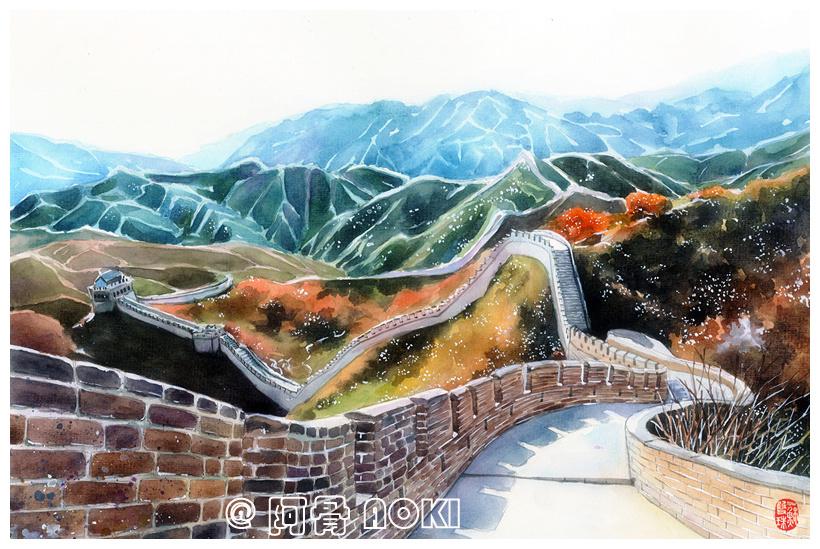 手绘城市系列——《北京》