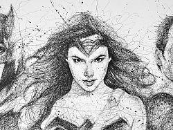 一支笔一面墙,再现DC超级英雄|飞线涂鸦