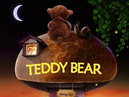 泰迪熊海报