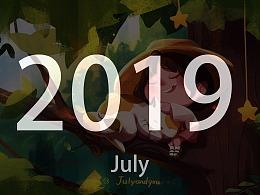 2019年插画创作集合