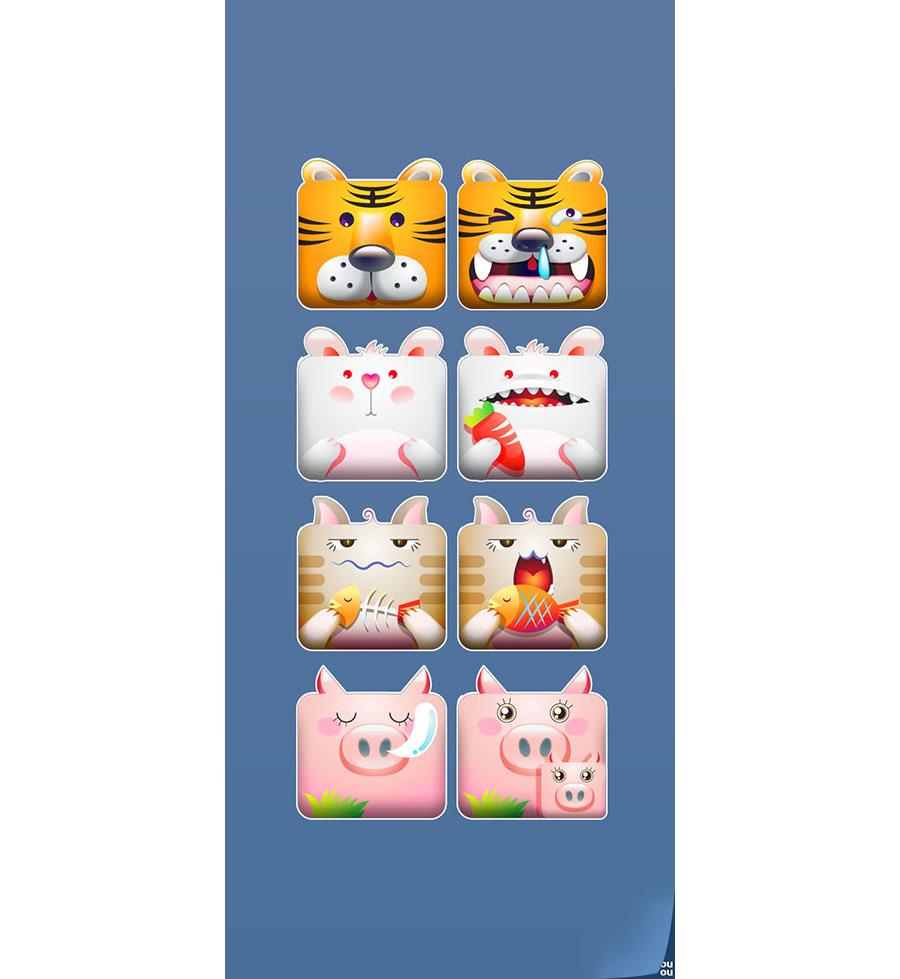 前2年(大概)制作的游戏类动物图标