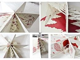 圣诞纸雕贺卡设计