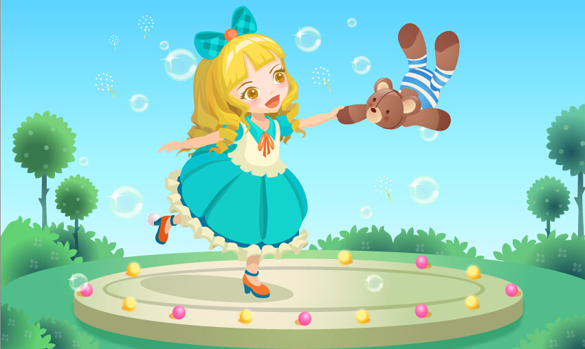 洋娃娃与小熊跳舞