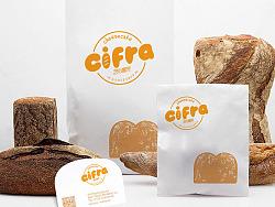 cifra 烘焙 甜点 蛋糕 面包 品牌标志VI设计
