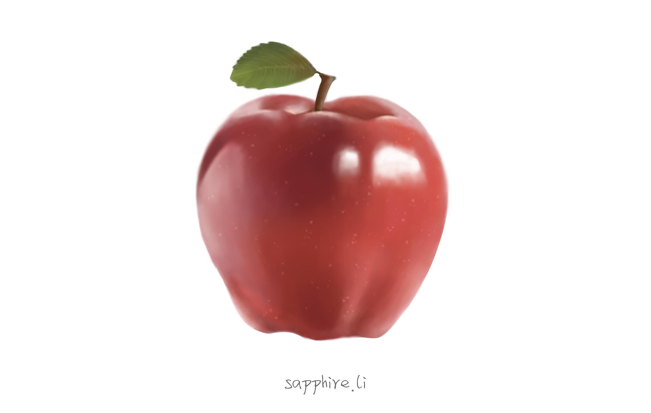 手绘-苹果