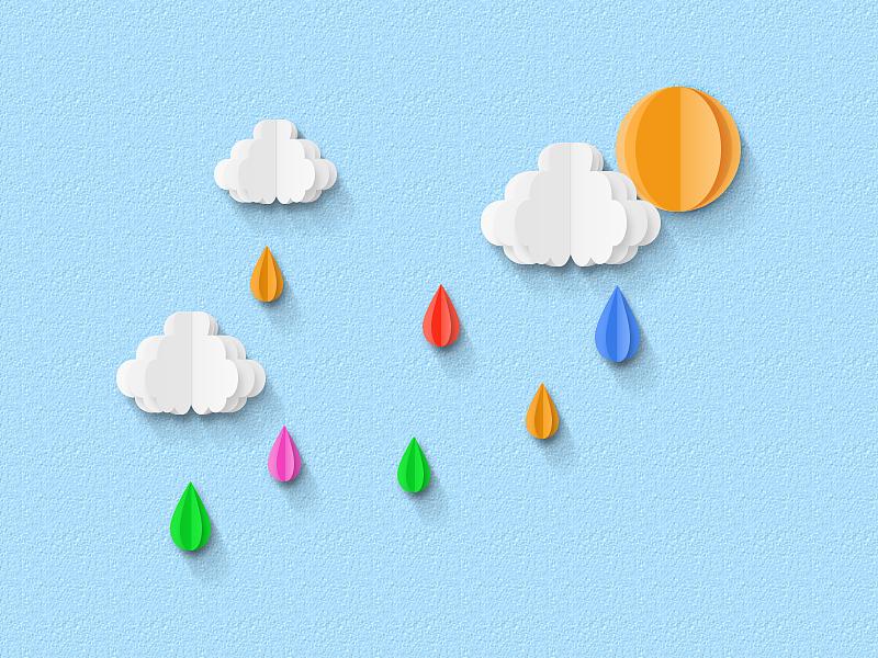 今天下雨,给自己画一个好心情