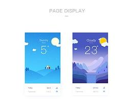UI 天气界面设计