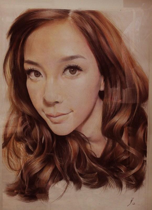 杨颖手绘彩铅美图片