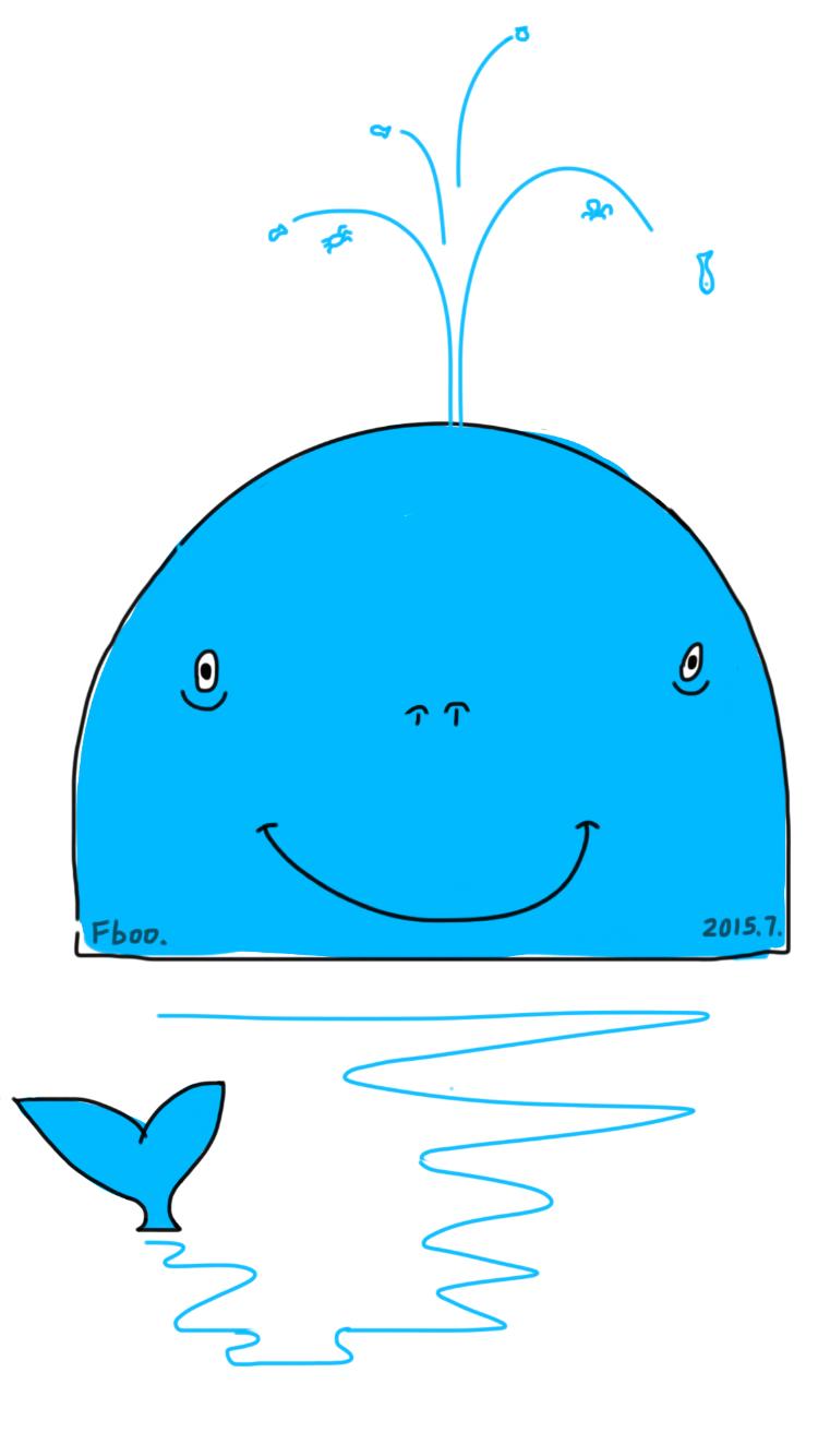 电脑桌面卡通蓝鲸壁纸