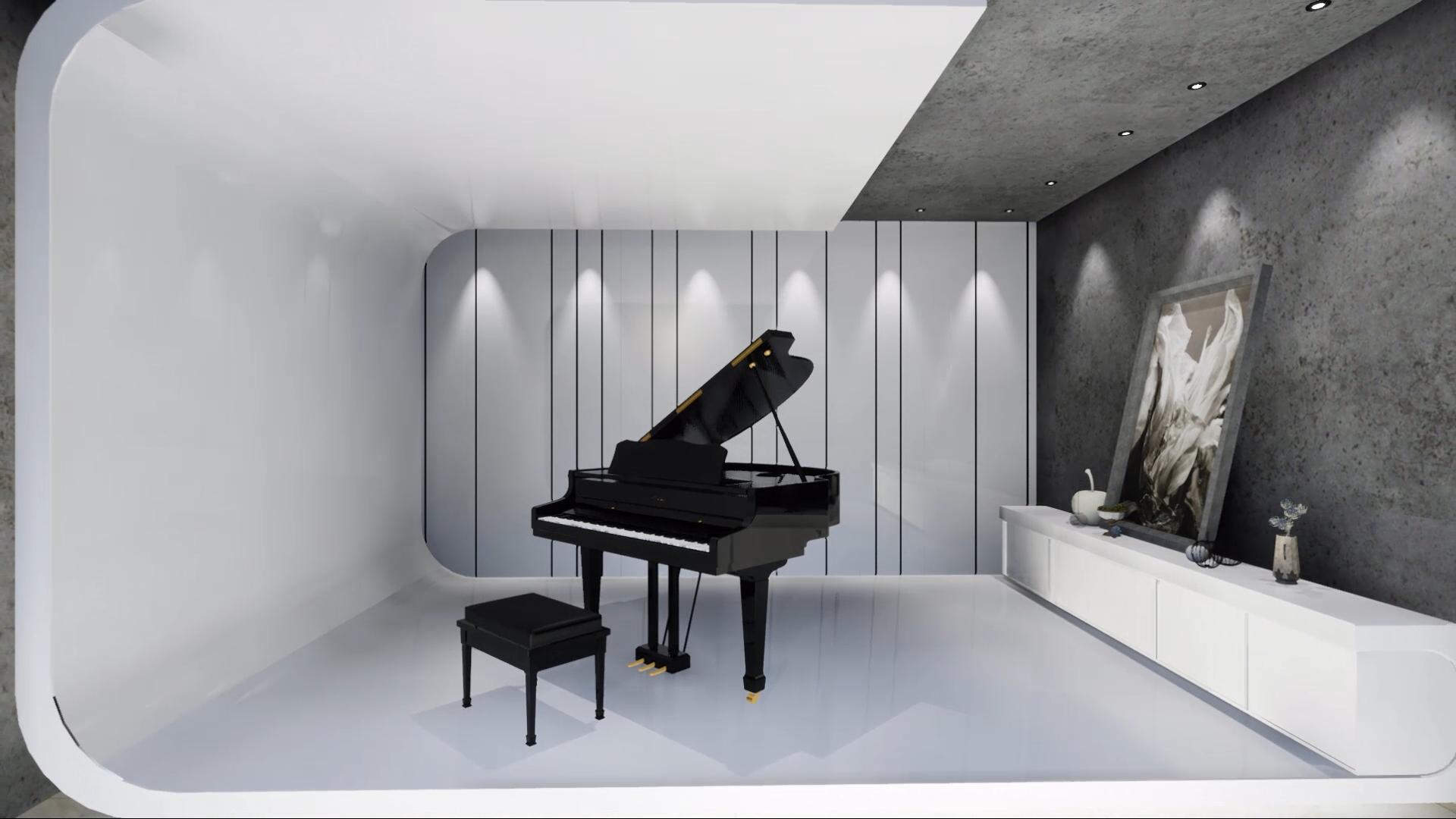 ue4_室内漫游动画,钢琴室|空间|室内设计|jinxin6图片