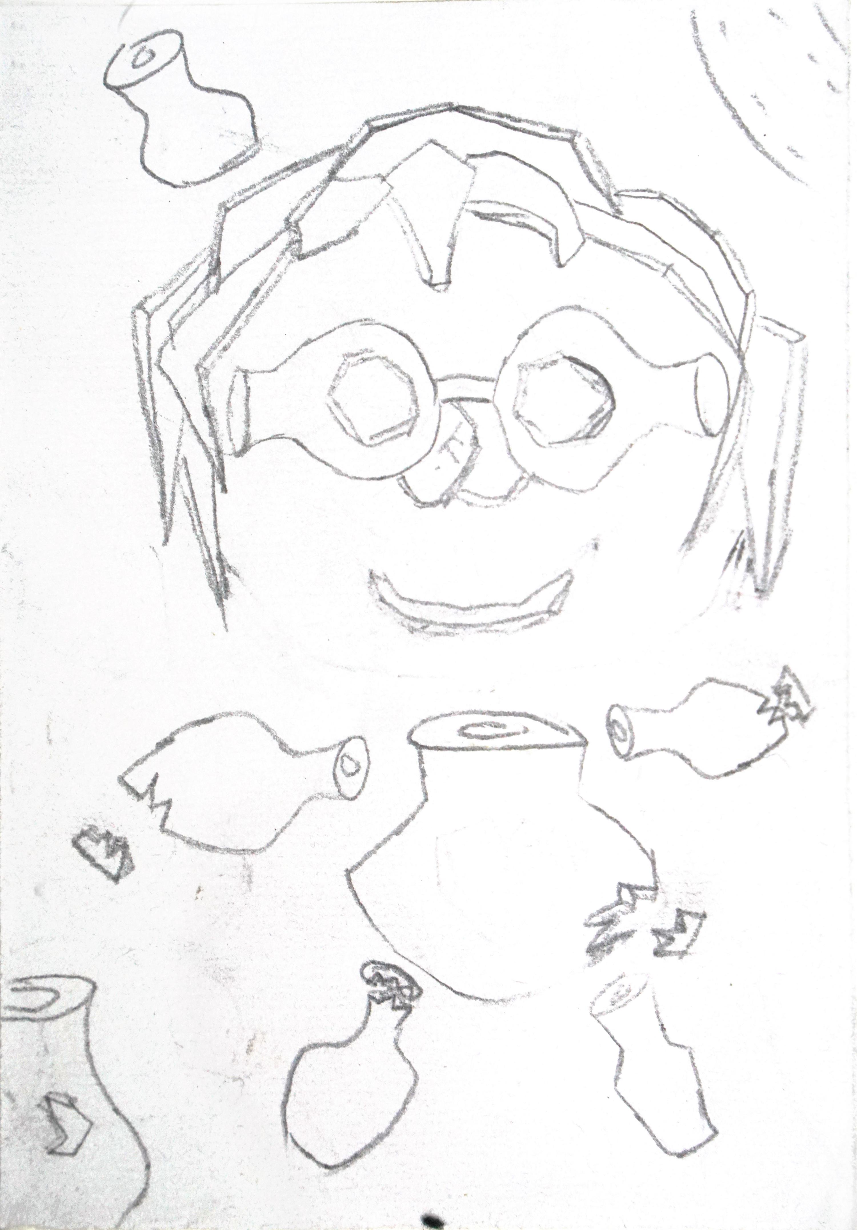 烧烤系列简笔画