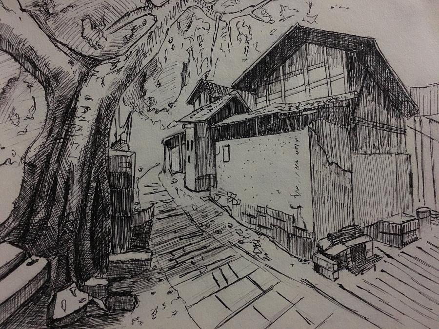 手绘透视房屋效果图第二期