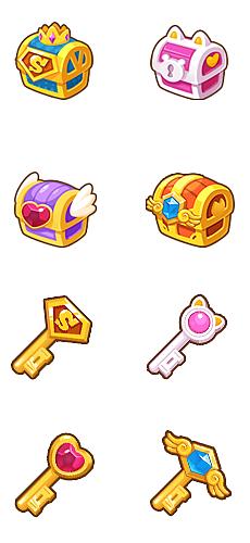 游戏宝箱钥匙图标,接游戏图标外包,有意者