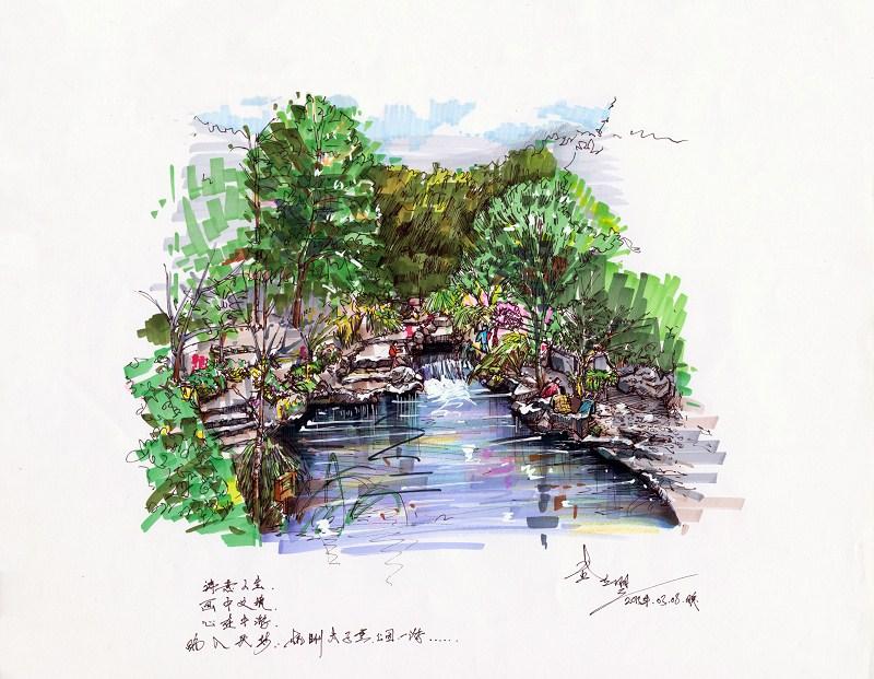 马克笔风景手绘作品|绘画习作|插画|莫兰molan