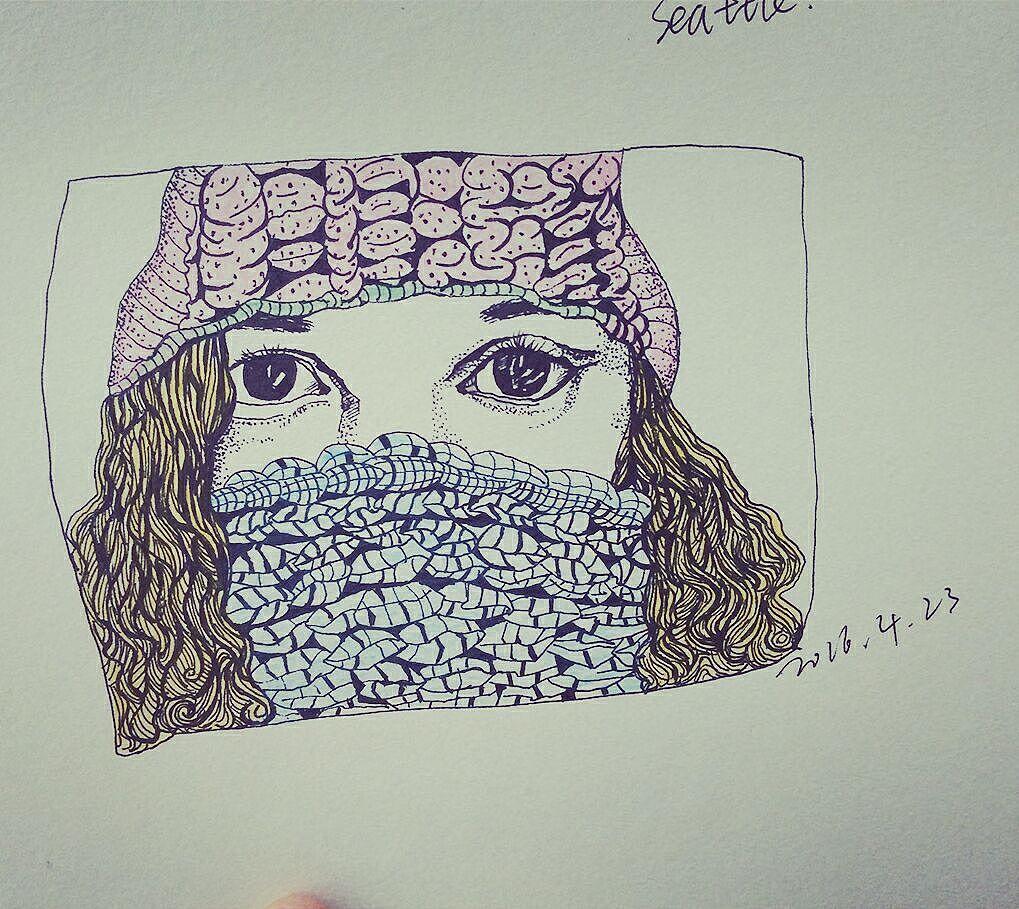 铅笔手绘|纯艺术|彩铅|鱼默默吐泡泡 - 原创作品