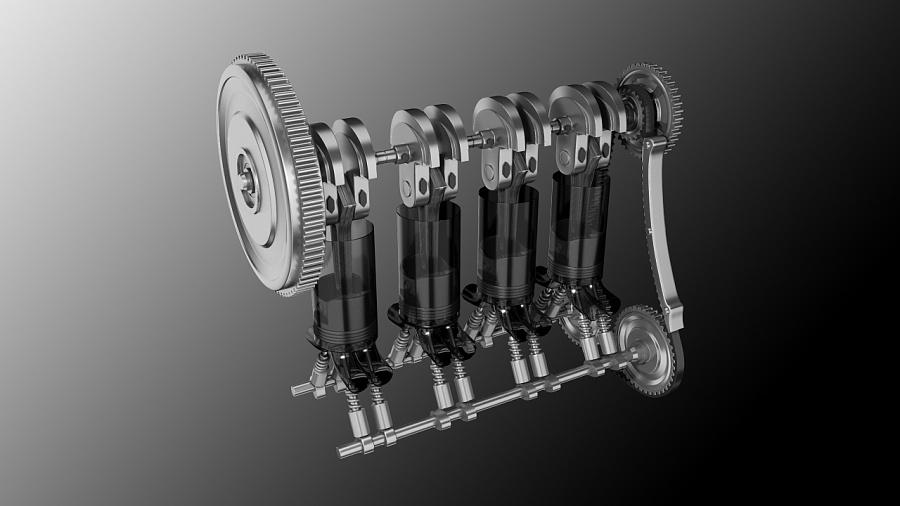 汽车发动机内部结构(二)|交通工具|工业/产品|金焃