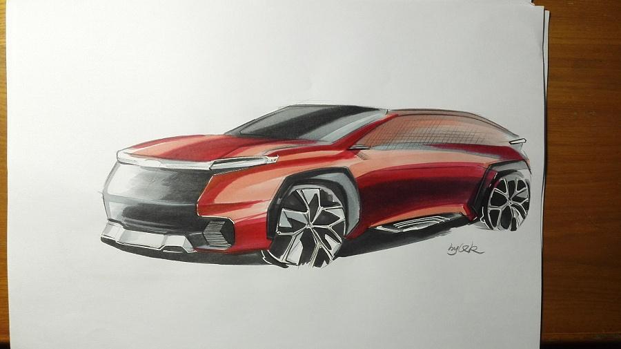 马克笔汽车手绘表现|交通工具|工业/产品|qkdesign