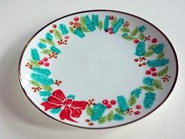 圣诞节瓷盘