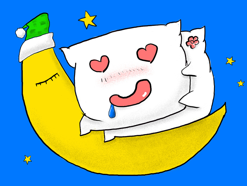 枕头卡通漫画手绘