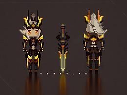 王者荣耀-水晶屠龙者·花木兰人物建模