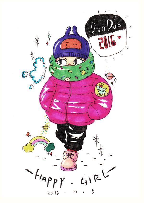 11月手绘插画作品|涂鸦/潮流|插画|鲨鱼shark