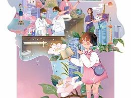 妇女节插画
