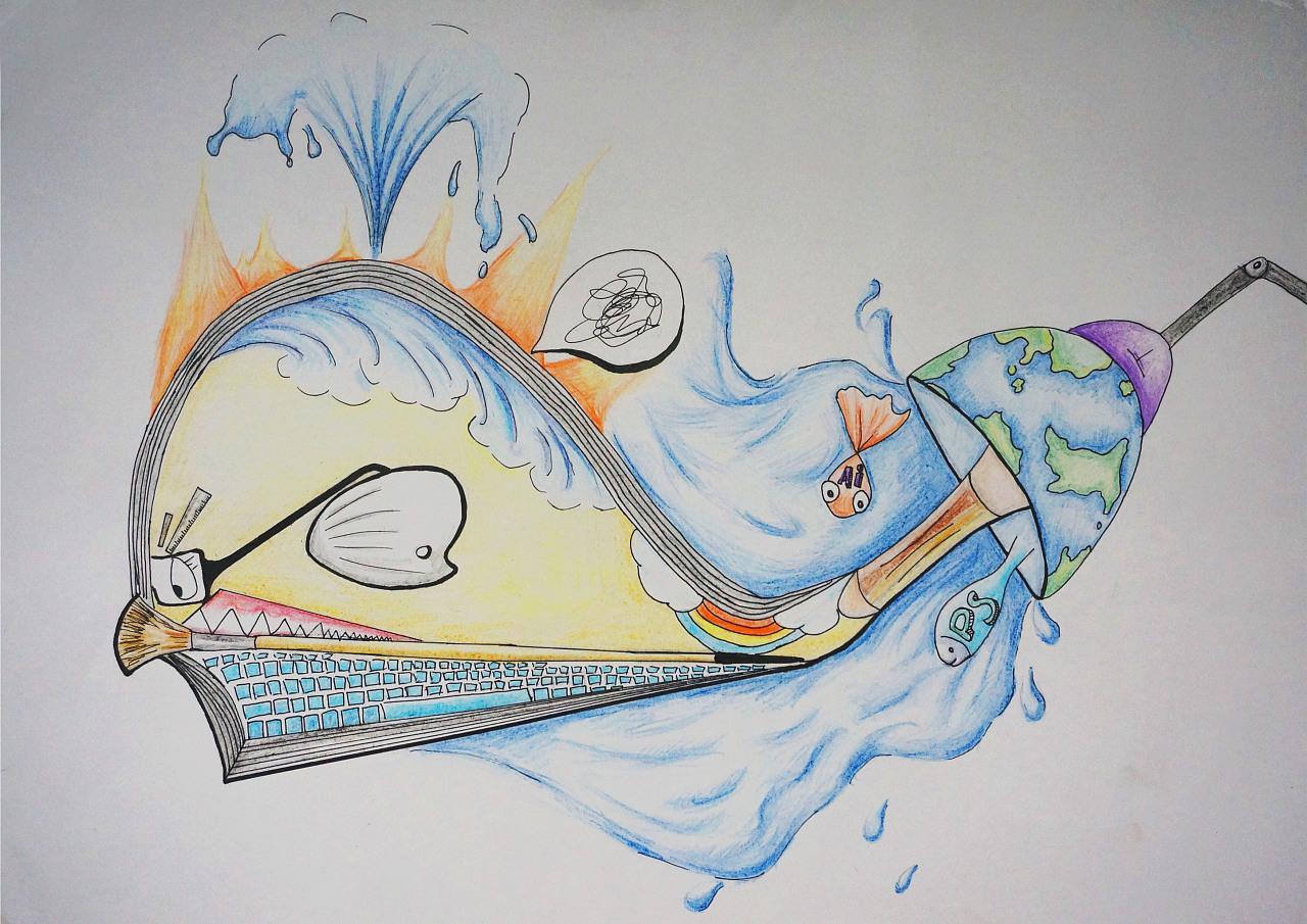 图形创意手绘图一张