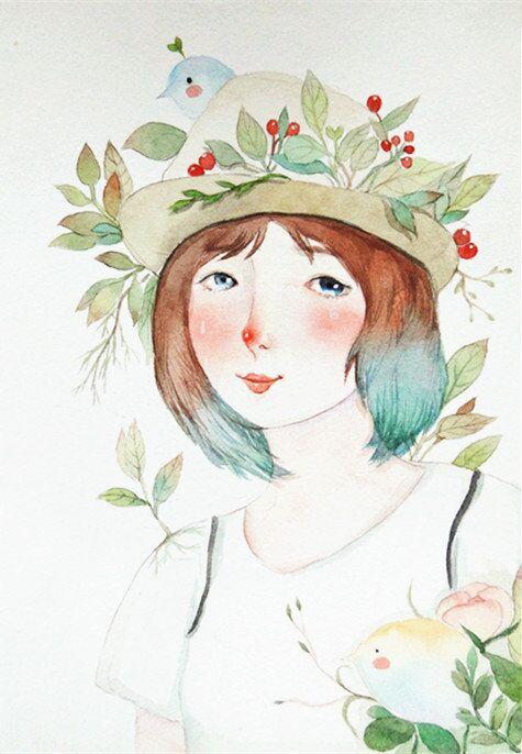 手绘 原创 插画 文艺清新|其他绘画|插画|潘璕
