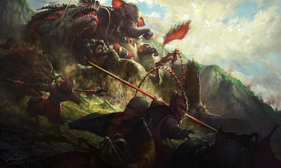 查看《几张中国神话类习作》原图,原图尺寸:2310x1380