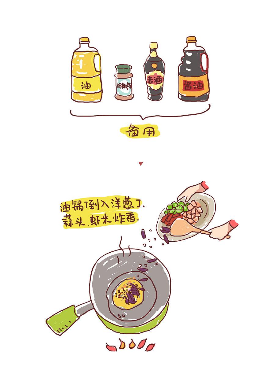 插紫菜Dua小漫画,美食篇,漫画蛋炒饭分享 短篇肉古代的肉画师图片