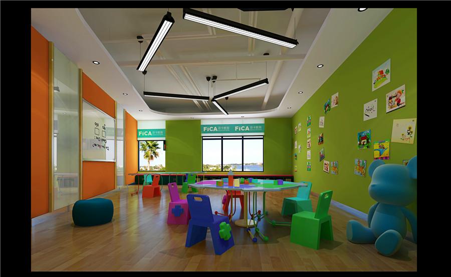 教育空间装修,培训机构设计|室内设计|程序|李铭人室内设计成体空间图片
