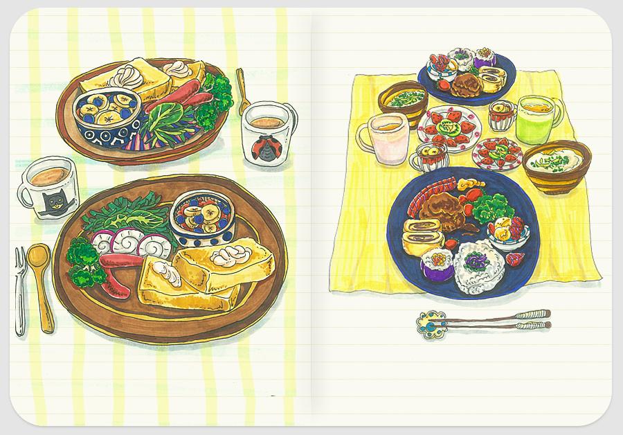 爱的早餐系列手绘小插画-1|绘画习作|插画|圈小圈yoy